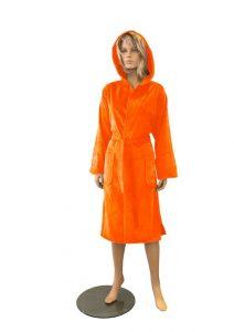 Oranje Badjas Hooded